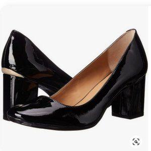 Calvin Klein Womens Clrilla Leather Round toe heel
